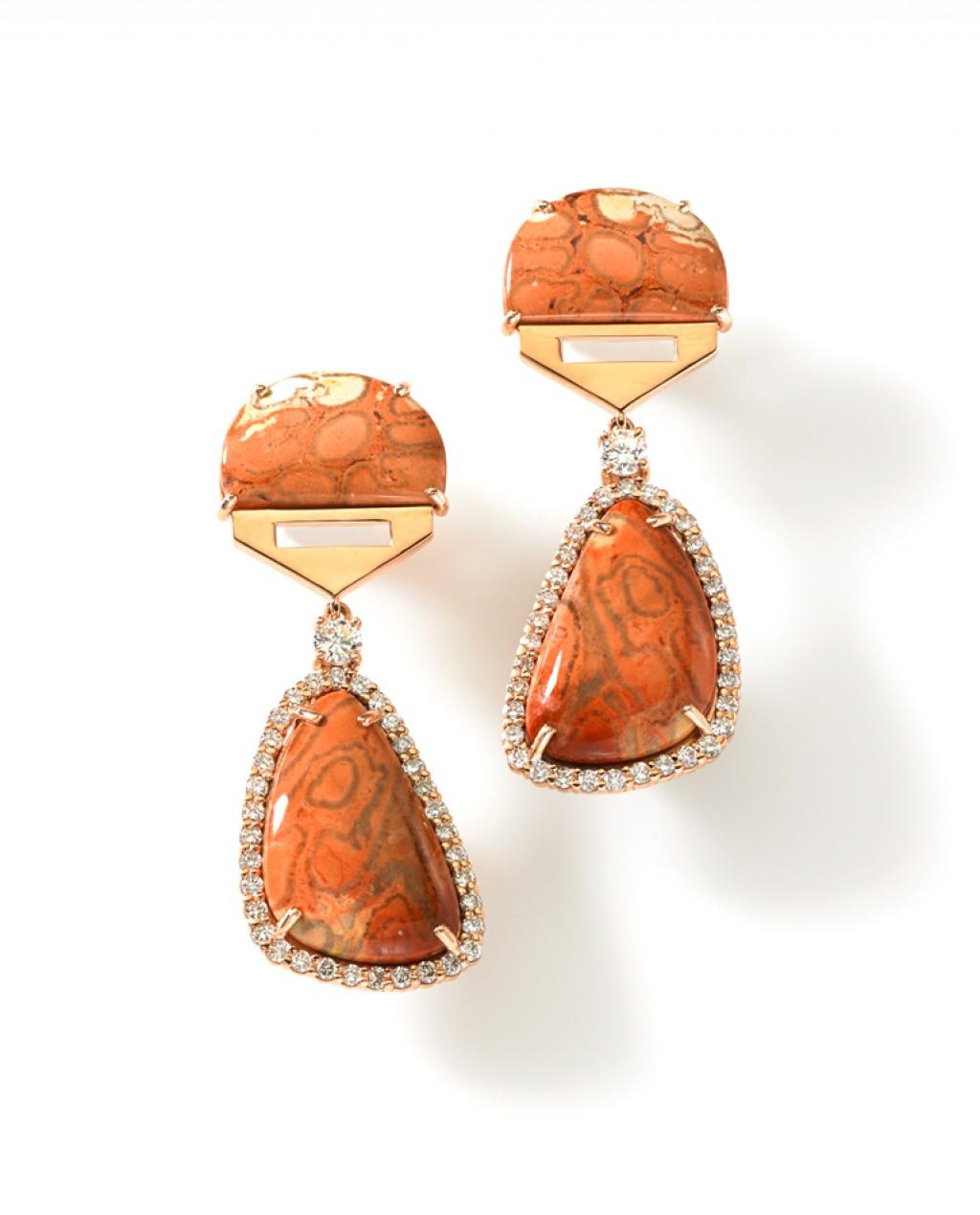 Fern Fossil Earrings